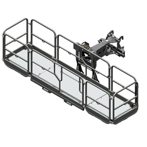 Rotating extendable man platform 1000kg (REP 10.2-4,7)